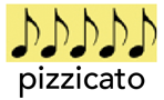 5 croches Pizzicato